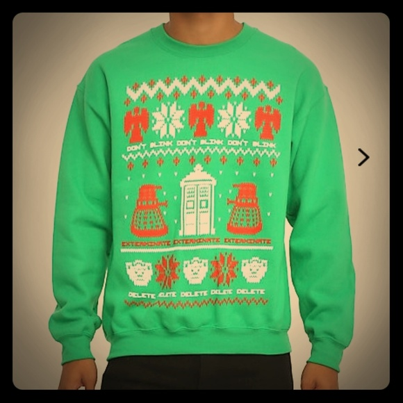 Hot Topic Sweaters Doctor Who Ugly Christmas Sweater Nwt Poshmark